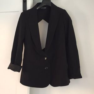 Anonymous clothing black backless blazer sexy S